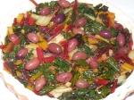 Oliven auf Mangoldtarte