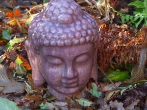 Budda im Laub