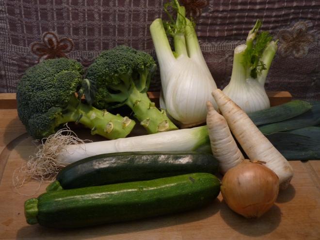 Gemüsezutaten