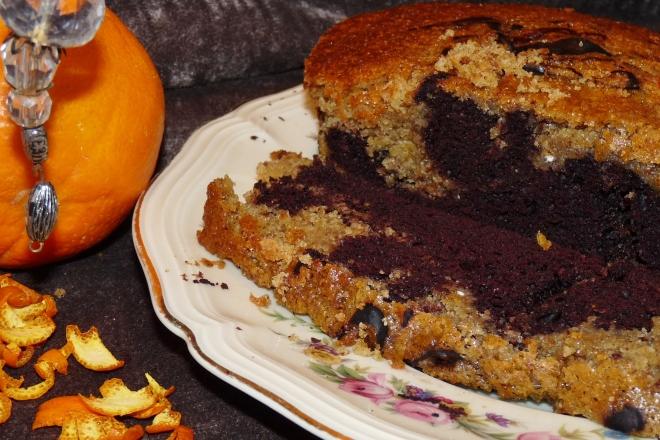 Veganer Orangen Schoko Marmorkuchen Homesteadnotes