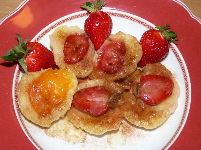Erdbeer/Aprikosenknödel