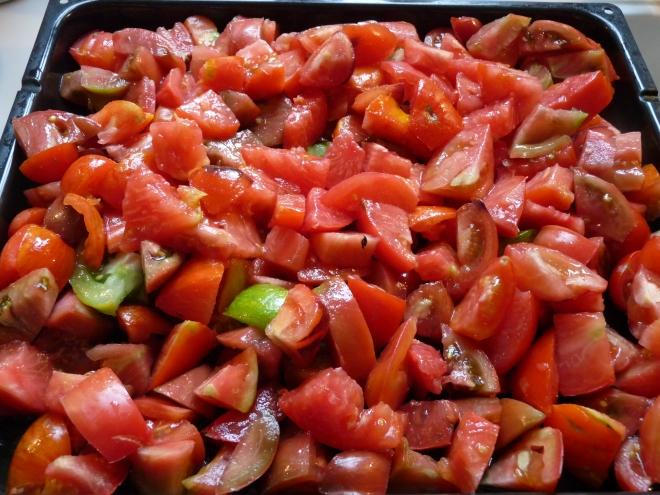 Tomaten auf Blech