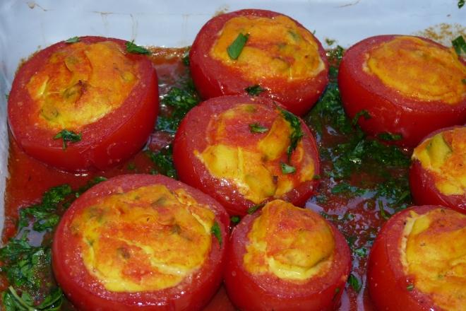 Tomaten in Auflaufform