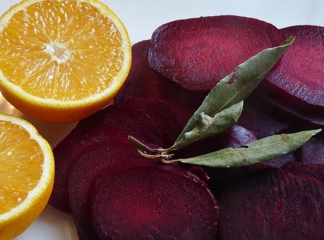 Rote beete und Orange