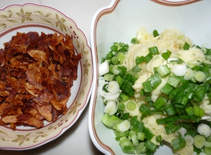 Bacon und Püree