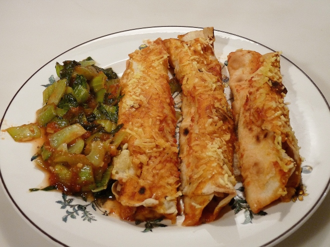Enchiladas mit Pak Choi