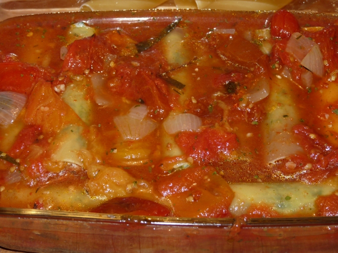 Canneloni in Sauce