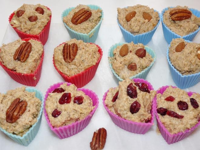 ungebackene Muffins