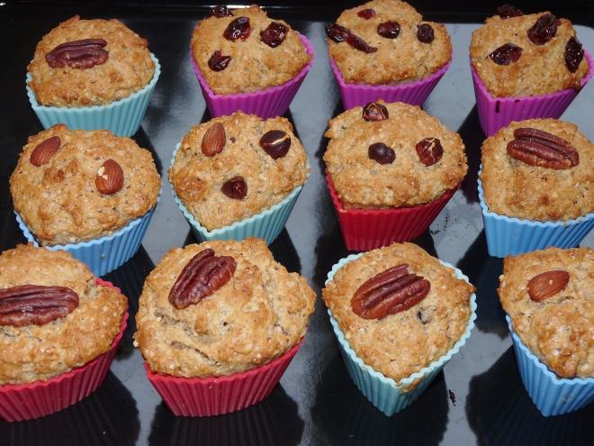 gebackenen Muffins