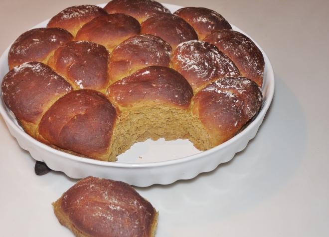 Kürbis-Kastanien-partybrötchen