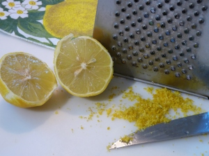 Abrieb der Zitrone