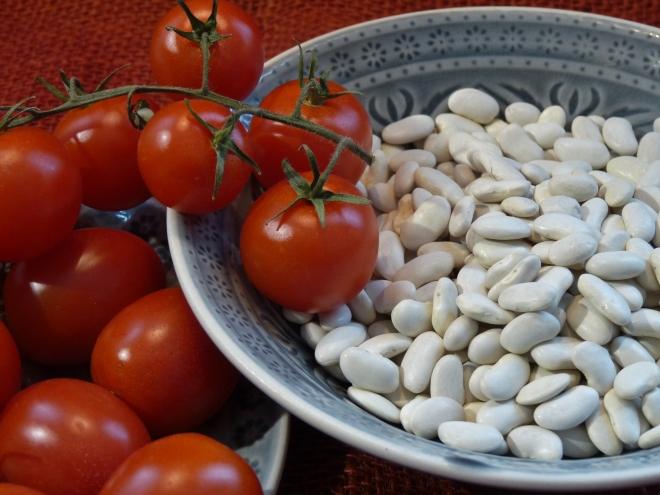 Tomaten und Bohnen
