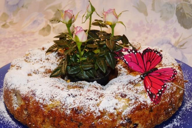 gepuderter Kuchen