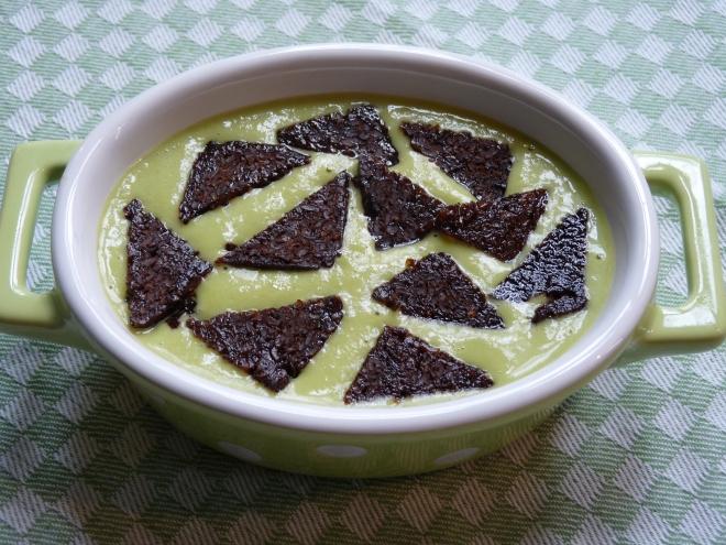 Pumpernickel auf Suppe