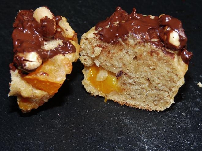 Muffin durchgeschnitten