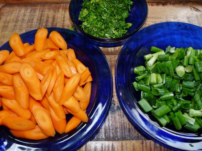 Gemüse in Schälchen