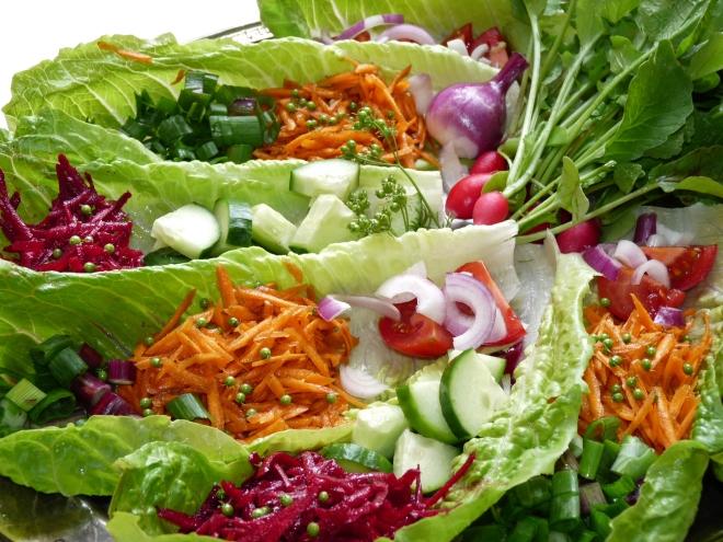 Totale Salatplatte