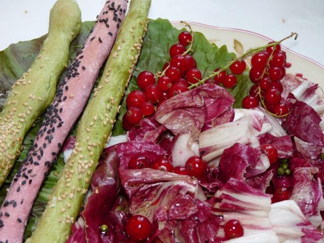 Rot-grüner Salat