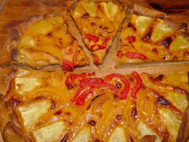 angeschnittene Pizza