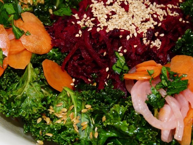 Ausschnitt Grünkohl-Salat