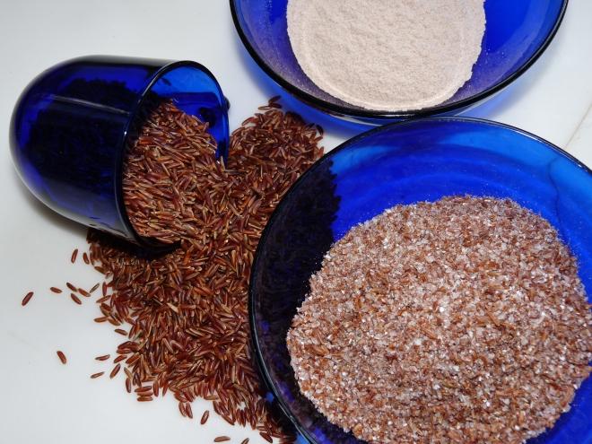 Reismehl und Schrot