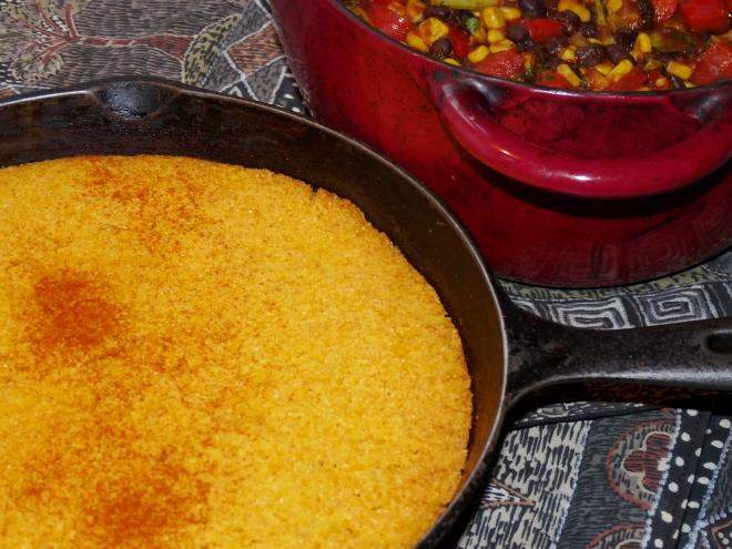 Cornbread mit Paprika bestäubt