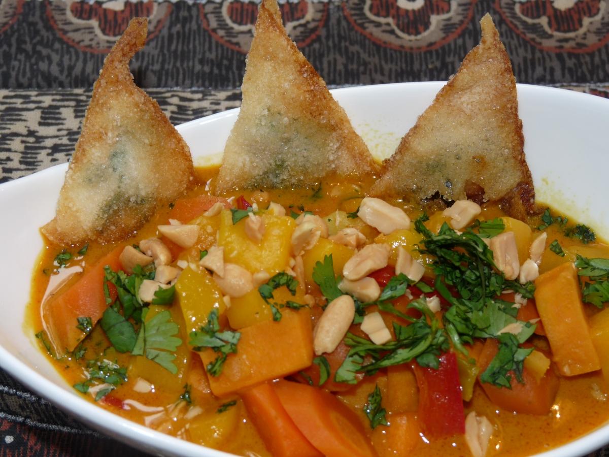 Eintopf: Mango-Süßkartoffel-Curry