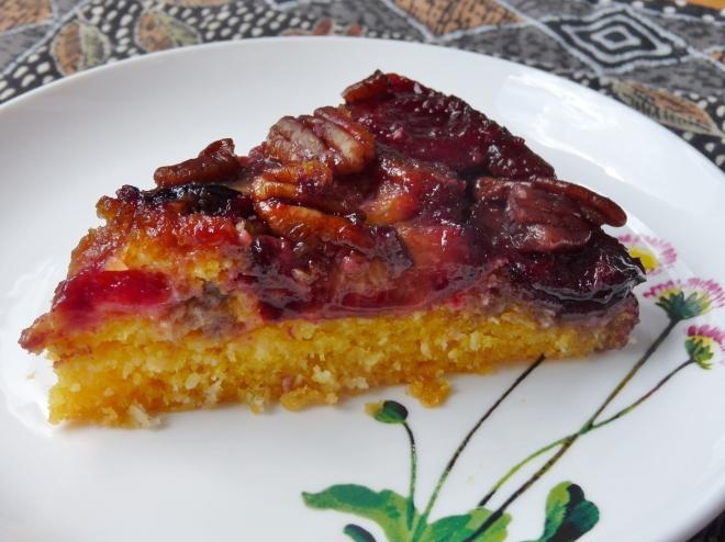 Stück Pflaumenkuchen