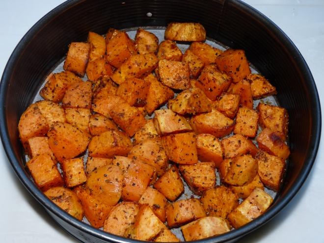 Süßkartoffeln in der Springform