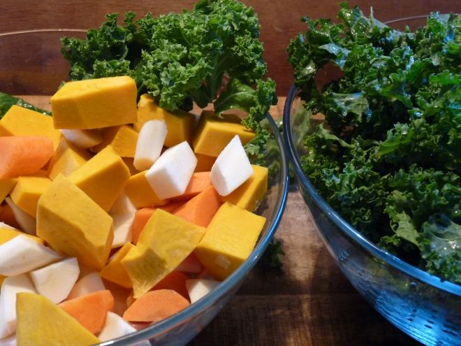 klein geschnittenes Gemüse