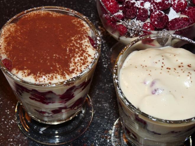 Dessert mit und ohne Kakao