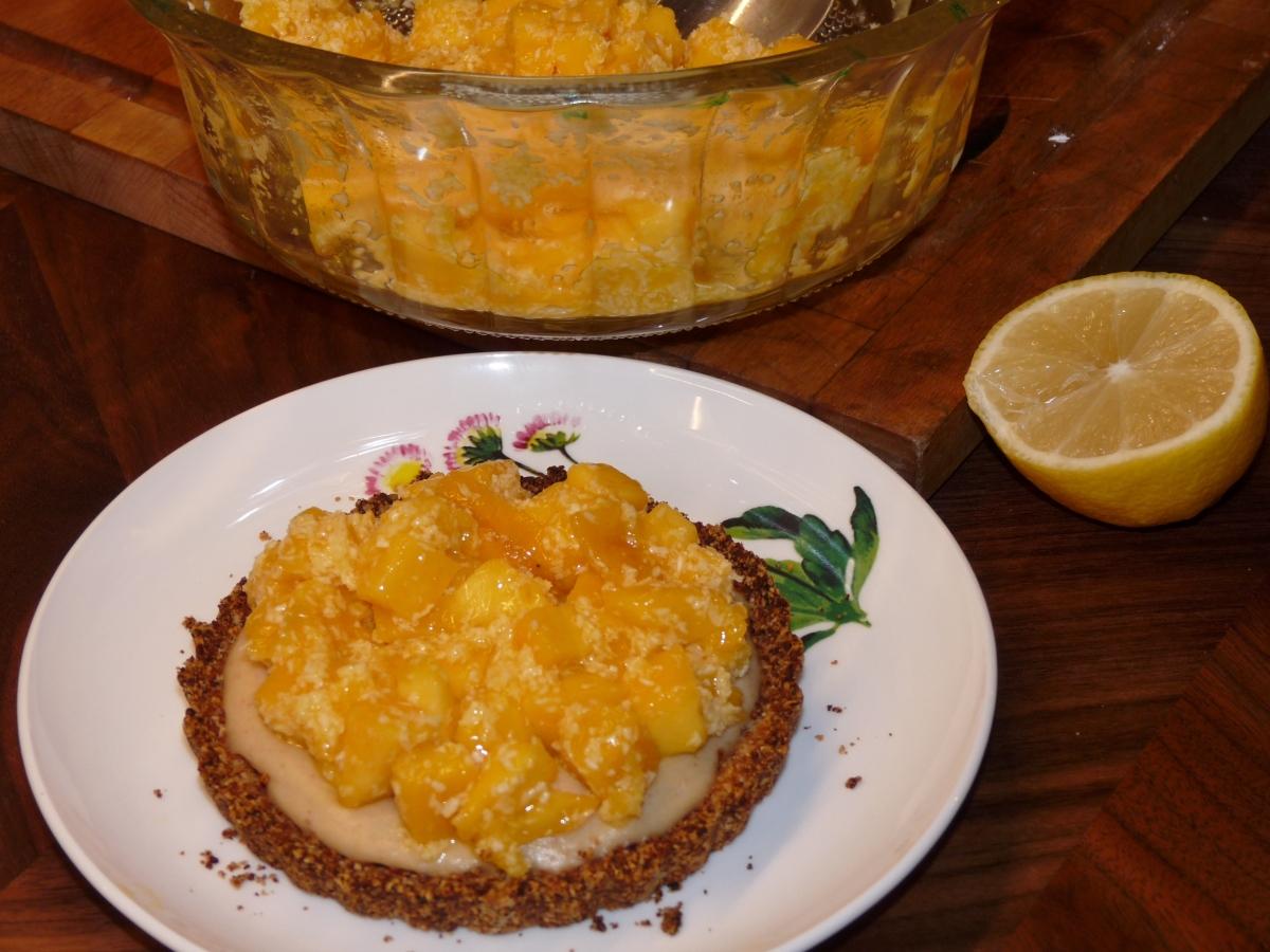 Mango-Zitronen-Tartelette: Mehl- und Zuckerfrei! Das schmeckt trotzdem! Oder gerade deswegen?