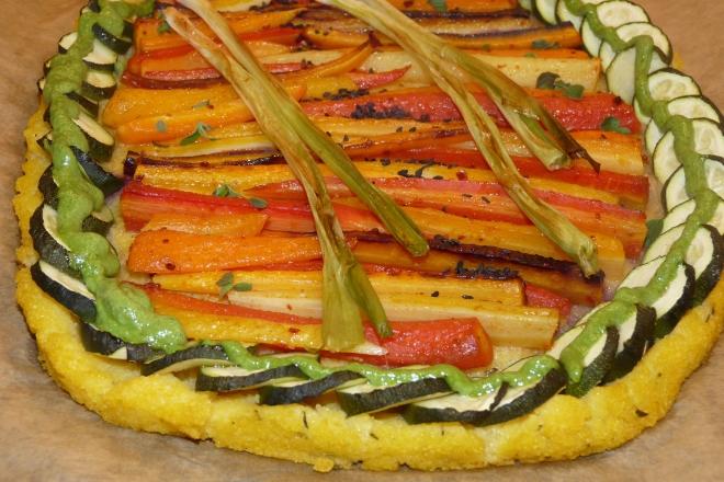Pizza von vorne