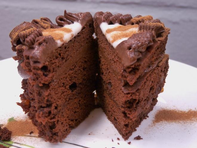 Brownie aufgeschnitten