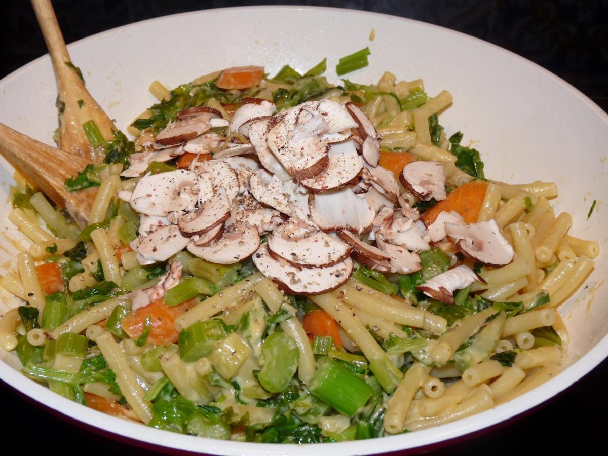 Nach der Grippe: Appetit machende, vitaminreiche Pasta, natürlich mit Mac Cheese