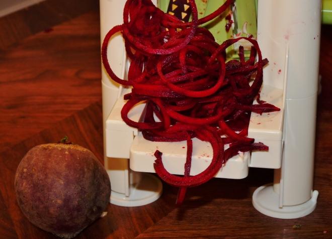 Rote beete Spiralen